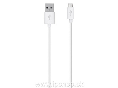 1,8 m dlhý synchronizační kabel USB - micro USB bílý (Just Wireless)