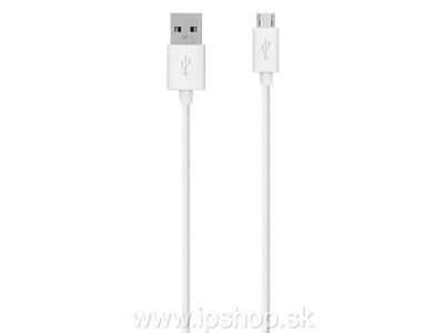 1,5 m dlhý synchronizačný kábel USB - micro USB biely