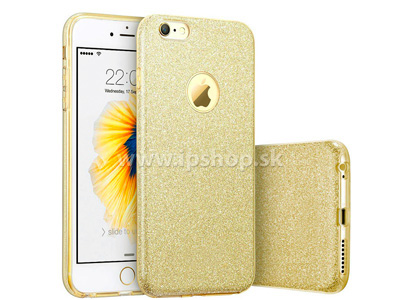 Ochranný glitrovaný kryt (obal) TPU Glitter Gold (zlatý) pro Apple iPhone 6s + fólie na displej