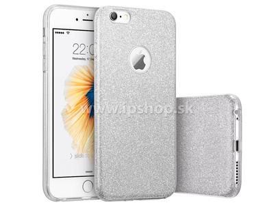 Ochranný glitrovaný kryt (obal) TPU Glitter Silver (stříbrný) pro Apple iPhone 6s + fólie na displej