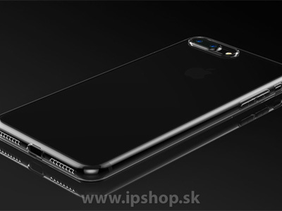 BASEUS ochranný kryt (obal) Ultra Slim TPU Simple Series Black (šedý) na Apple iPhone 7 Plus / iPhone 8 Plus