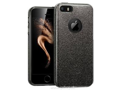 Ochranný glitrovaný kryt (obal) TPU Glitter Dark Grey (tmavošedý) pre Apple  iPhone b4b0574a0db