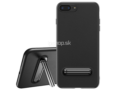 BASEUS Synthetic Leather Stand Case Black (čierny) - odolný ochranný kryt (obal) na Apple iPhone 7 Plus / iPhone 8 Plus