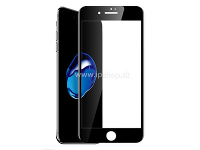Edge to Edge Tempered Glass Black - temperovan� tvrden� ochrann� sklo na displej pre Apple iPhone 7 / iPhone 8 �ierne