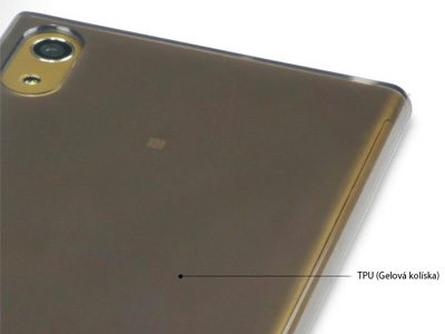 Ochranný gelový kryt (obal) TPU Smokey Black (dymový šedý) na Sony Xperia 6e307260168