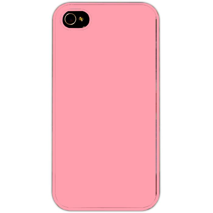 Kryt (obal) s potiskem (vlastní fotkou) s růžovým plastovým okrajem pro Apple iPhone 4 + fólie na displej