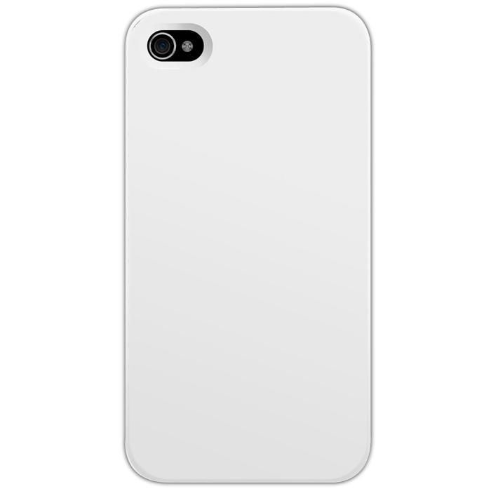 Kryt (obal) s potiskem (vlastní fotkou) s bílým plastovým okrajem pro Apple iPhone 4 + fólie na displej