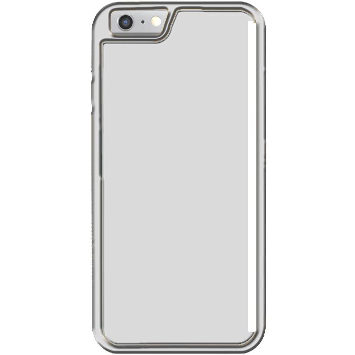 Kryt (obal) s potlačou (vlastnou fotkou) so strieborným plastovým rámčekom  pre Apple 67006790679