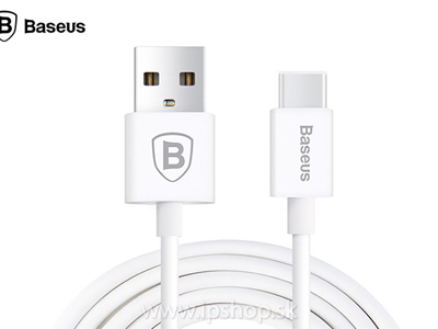 USB typ C (USB-C) - data kábel pre Macbook, HUAWEI P9/P9 Plus, Honor 8, Galaxy Note 7 - biely