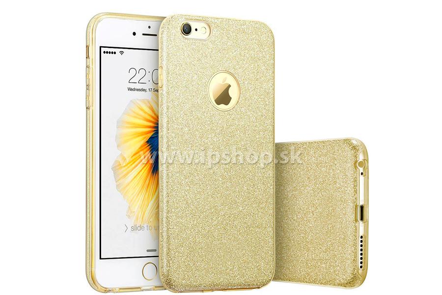 Ochranný glitrovaný kryt (obal) TPU Glitter Gold (zlatý) pre Apple iPhone 6s  Plus + fólia na displej 8a8c8d19300
