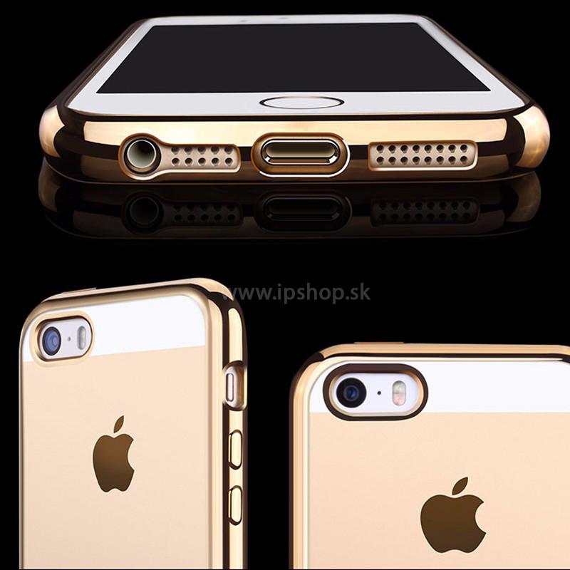 Ochranný kryt (obal) Clear TPU Bumper Grey (šedý) na Apple iPhone 5S ... 8ae2728c815