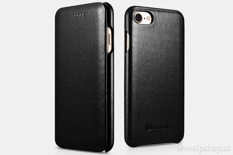 Elegance Vintage Book Black - luxusné kožené puzdro z pravej kože pre Apple  iPhone 7   iPhone 8 - čierne b855c31870f