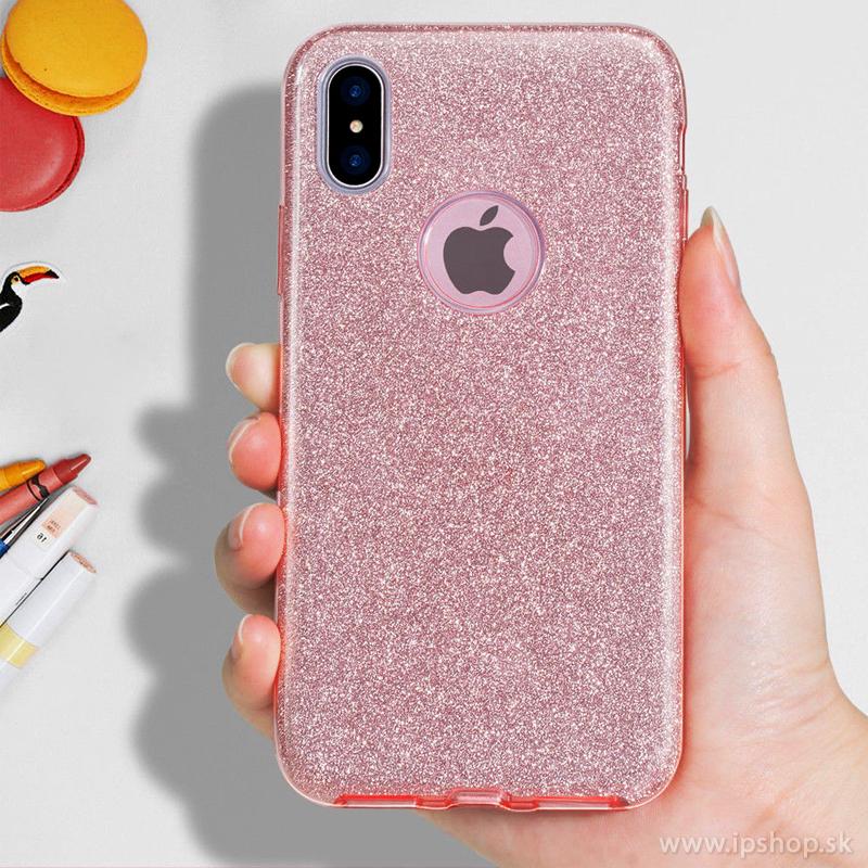 Ochranný glitrovaný kryt (obal) TPU Glitter Pink (ružový) pre Apple iPhone X 19769bf6ec9