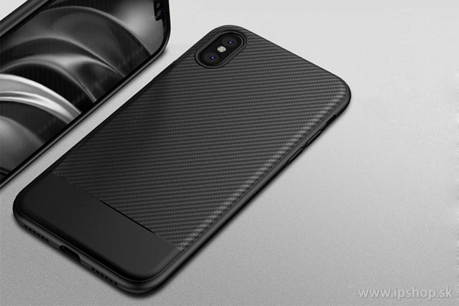 Carbon Fiber Black - odolný ochranný kryt (obal) pre Apple iPhone X ... 402b7519deb