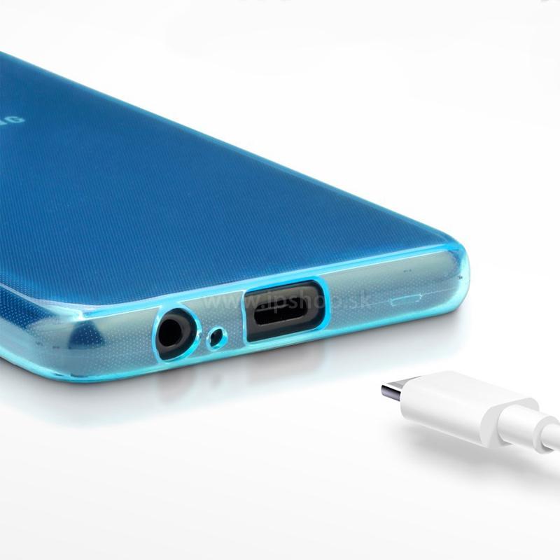 Ochranný gelový kryt (obal) farba Blue (modrá) na Samsung Galaxy A8 ... e1100190c6c