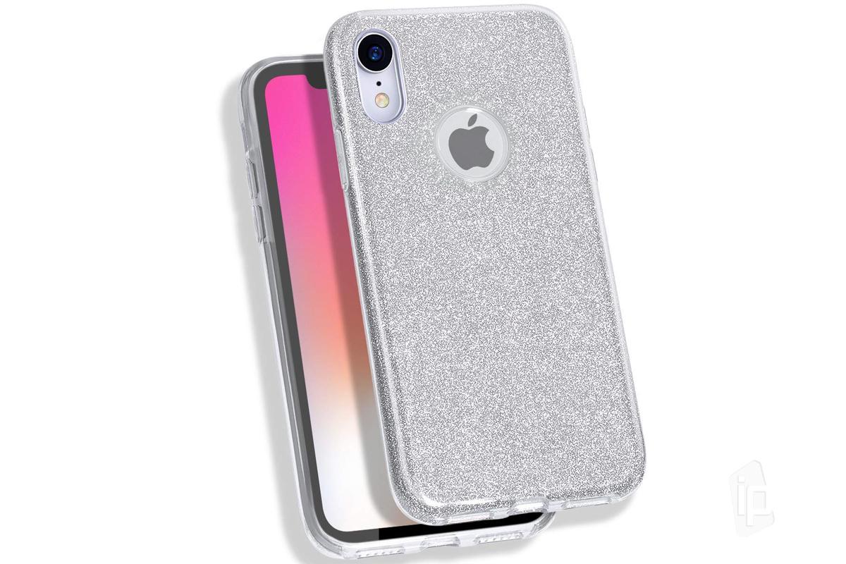 TPU Glitter Case (strieborný) - Ochranný glitrovaný kryt (obal) pre Apple  iPhone XR 4040211dbe2