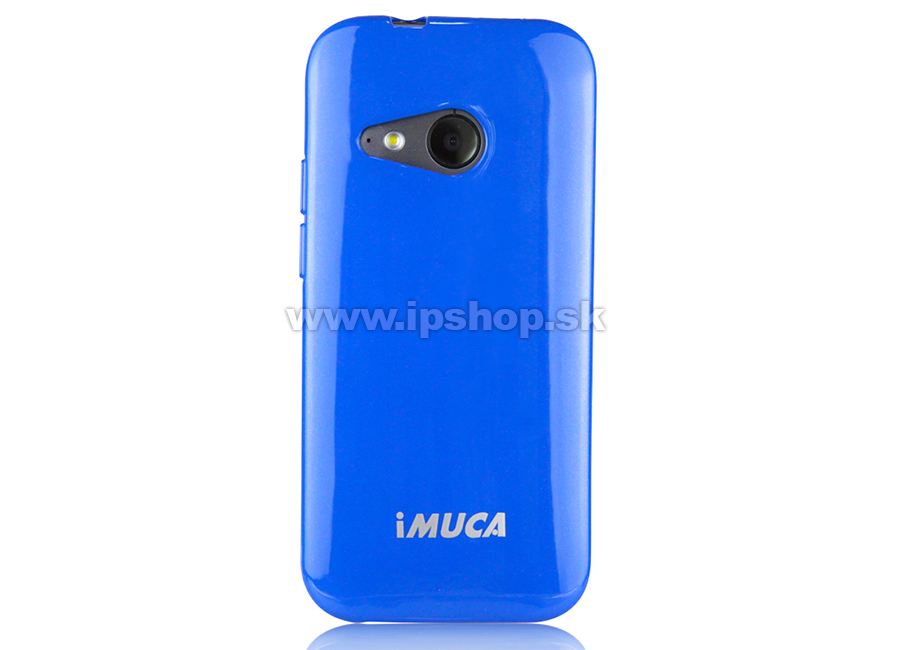 Luxusní ochranný kryt (obal) modrý Metallic Color TPU na HTC One mini 2 +  fólie zdarma + stylus   AKCIA!! 2e59584df79