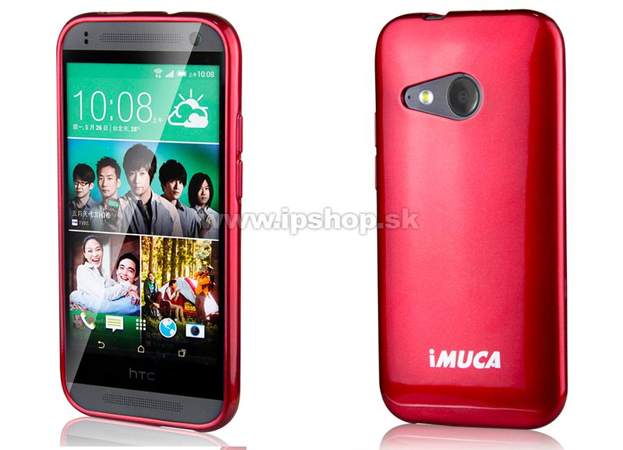 Luxusní ochranný kryt (obal) bordový Metallic Color TPU na HTC One mini 2 +  fólie + stylus zdarma   AKCIA!! 2c88a8d3c93