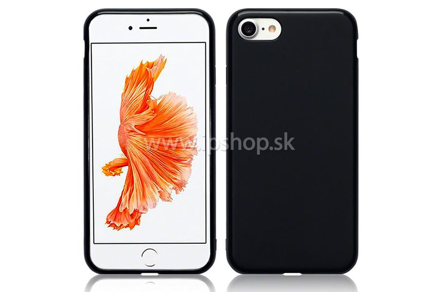 Ochranný gelový kryt (obal) Deep Black (čierny) na Apple iPhone 7 ... baf1aeb9387