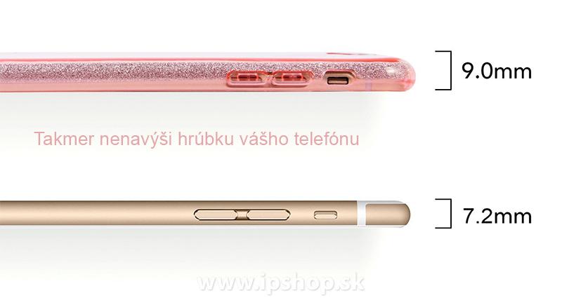 Ochranný glitrovaný kryt (obal) TPU Glitter Pink (ružový) pre Apple iPhone 7 780181dba35