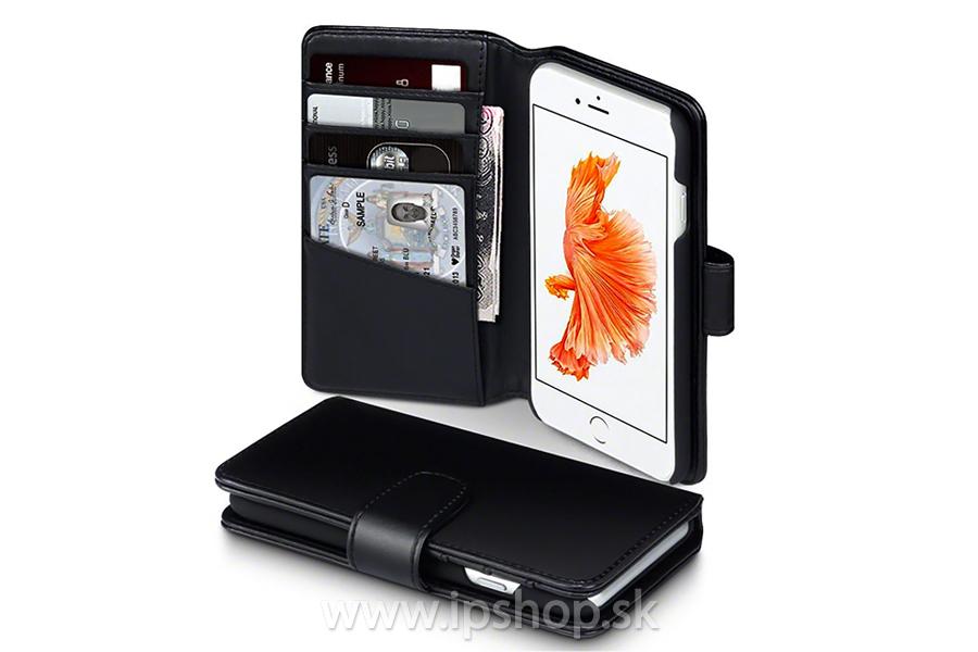 Peňaženkové puzdro pre Apple iPhone 7   iPhone 8 čierne - pravá koža ... 6f141934a4b