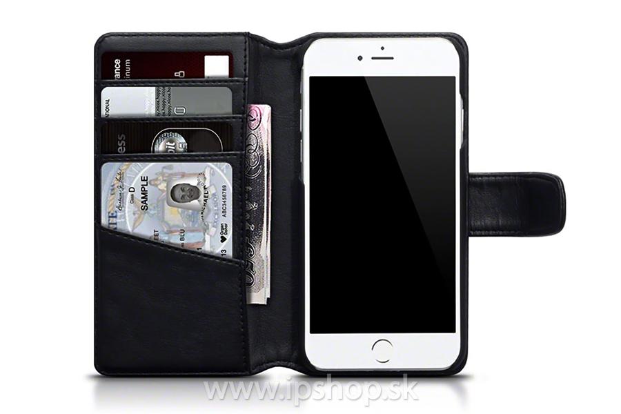Peňaženkové puzdro pre Apple iPhone 7   iPhone 8 čierne - pravá koža ... 1b33a53e749