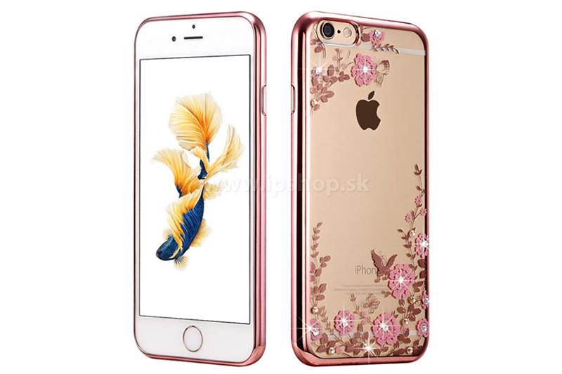 Luxusní ochranný kryt (obal) TPU Butterfly Bumper Rose Gold (zlato-růžový) 148b1ed4742