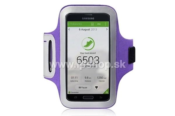 Športové puzdro na ruku pre Samsung Galaxy S5   S5 NEO fialové   AKCIA!! 435ccc40fde