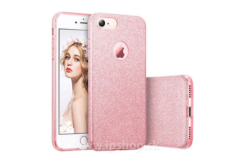 Ochranný glitrovaný kryt (obal) TPU Glitter Pink (ružový) pre Apple iPhone  6s f48ed4a8099