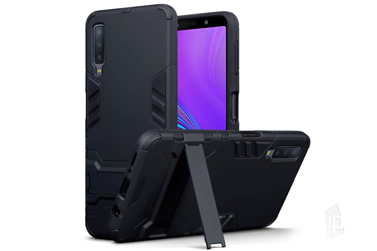 Armor Stand Defender Black (čierny) - Odolný kryt (obal) na Samsung Galaxy  A7 2018 6c29b96ae64