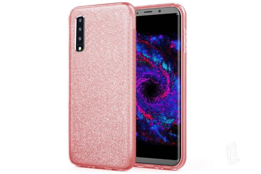 68e4797f65 TPU Glitter Case (růžový) - Ochranný glitrovaný kryt (obal) pro Samsung  Galaxy A7 2018