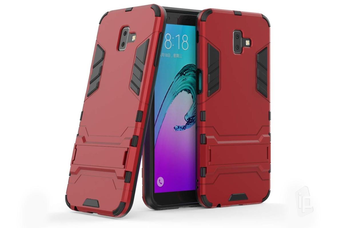 Armor Stand Defender (červený) - Odolný kryt (obal) na Samsung Galaxy J6 d2f1f025a14