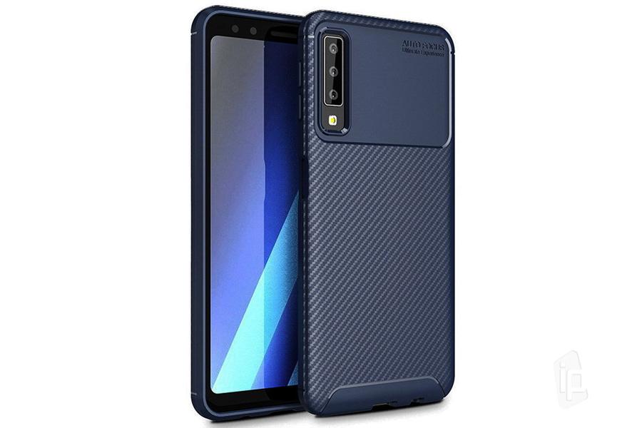 Impact Carbon Defender Blue (modrý) - odolný ochranný kryt (obal) na Samsung  Galaxy A7 2018 b8af0b58899