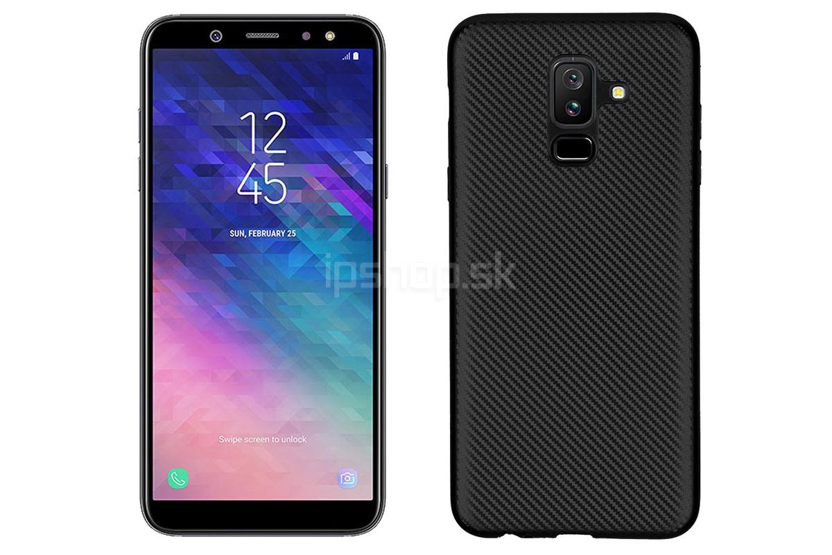 Slim Carbon Fiber Case Black - Ochranný kryt (obal) pre Samsung Galaxy A6  Plus 2018 čierny bae15ba57d8