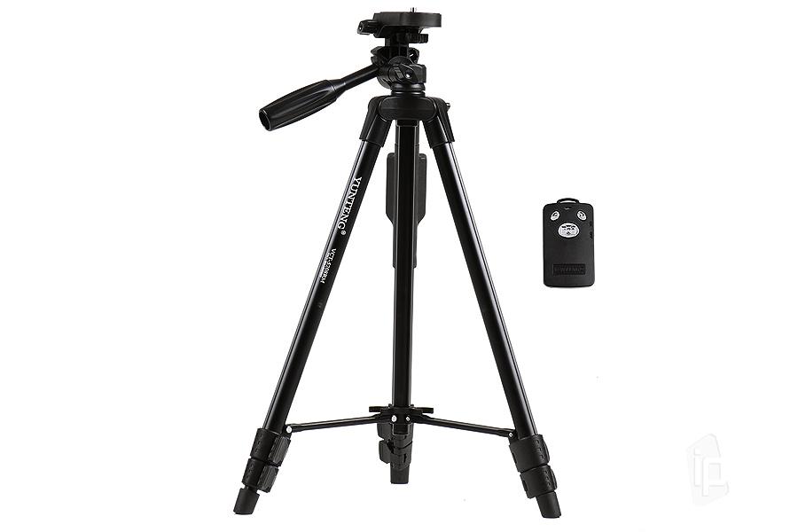c44f71a21 Cestovný statív pre mobilné telefóny a fotoaparáty s Bluetooth ovládaním  (čierny)