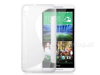 Ochranný gelový/gumový kryt (obal) Clear Wave (čirý) na HTC Desire 820 + fólie na displej
