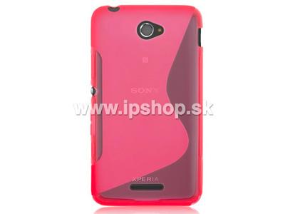 Ochranný gelový/gumový kryt (obal) Pink Wave na Sony E4G / E4G Dual + fólie na displej
