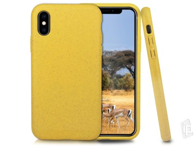 Eco Friendly Case (žltý) - Kompostovateľný obal pre Apple iPhone X / XS