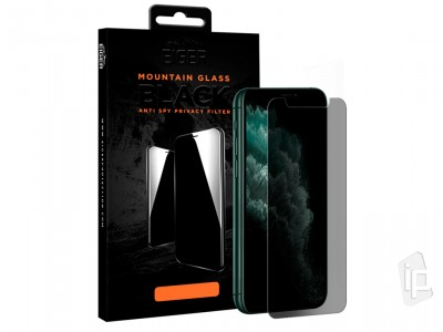 "EIGER Mountain Privacy Glass ""Case Friendly"" - Anti-Spy tvrdené sklo pre Apple iPhone 11 / XR"