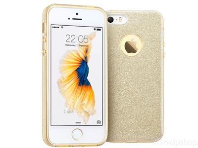 Ochranný glitrovaný kryt (obal) TPU Glitter Gold (zlatý) pre Apple iPhone 5S ef3fd1f119c