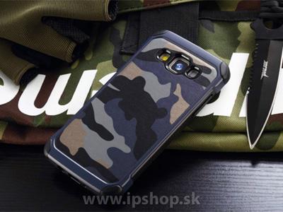 Camo Series Blue - odolný outdoorový ochranný kryt (obal) modrý na Samsung Galaxy A7 + fólie na displej