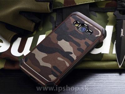 Camo Series Brown - odolný outdoorový ochranný kryt (obal) hnědý na Samsung Galaxy A7 + fólie na displej