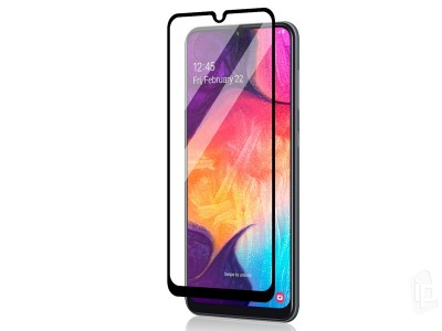 2.5D Full Glue Tempered Glass (čierne) - Tvrdené sklo na displej na Samsung Galaxy A50