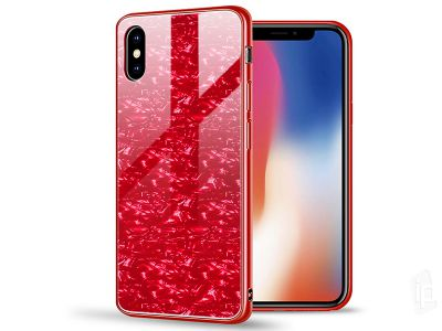 Luxury Glass Defender Red (�erven�) - Ochrann� obal (kryt) s temperovan�m sklom pre Apple iPhone X