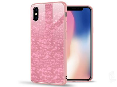 Luxury Glass Defender Pink (ru�ov�) - Ochrann� obal (kryt) s temperovan�m sklom pre Apple iPhone X