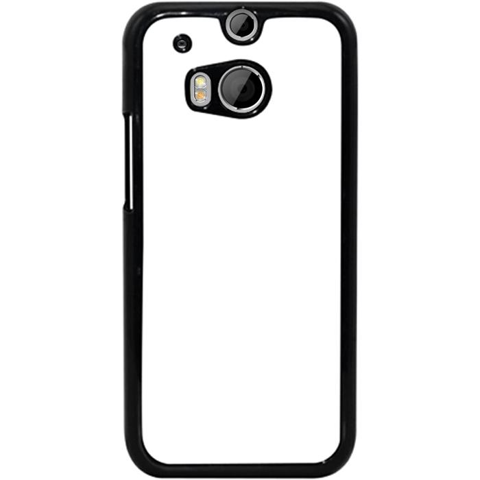 Kryt (obal) s potiskem (vlastní fotkou) s černým okrajem pro HTC One (M8) + fólie na displej