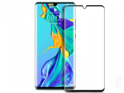 2.5D Full Glue Case Friendly Tempered Glass (čierne) - Tvrdené sklo na displej na Huawei P30 **AKCIA!!