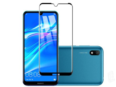 2.5D Full Glue Tempered Glass (čierne) - Tvrdené sklo na displej na Honor 8S 2020 / Honor 8S / Huawei Y5 2019