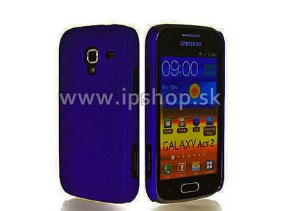 Zadní ochranný kryt (obal) Bumpy Mesh Blue (tmavomodrý) na Samsung Galaxy Ace 2 i8160 **VÝPRODEJ!!