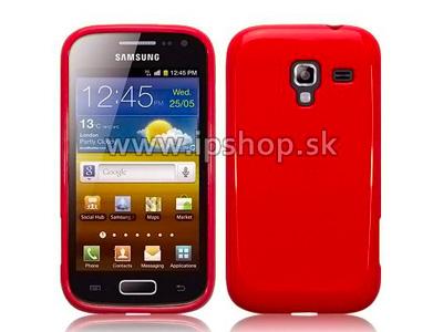 Ochranný gelový/gumový kryt (obal) na Samsung Galaxy Ace 2 i8160 Candy Red (červený)